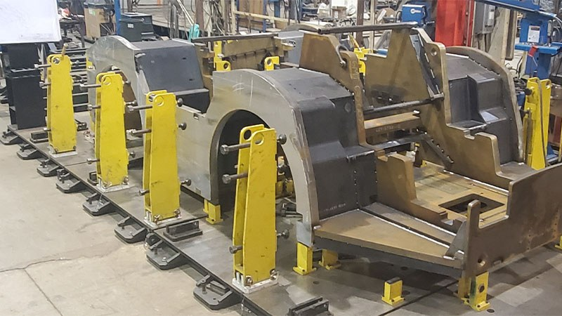 Tug Tram Ground Support Equipment Ready to be Welded by GMT Corporation